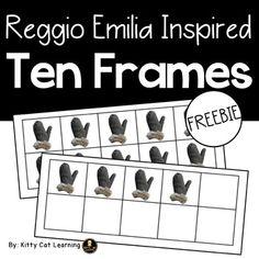 Reggio Emilia Inspired Ten Frames - Winter... by Kitty Cat Learning | Teachers Pay Teachers