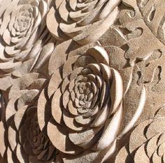 3D Textiles Design - carved floral patterns with sculptural relief - fabric manipulation; textural surfaces // Helen Amy Murray