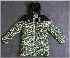 63d20104bd0d Men s Bape Hoodie Bronzing Monkey Head Design Jacket A Bathing APE Cotton  Coat