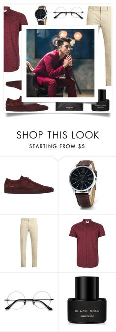 """""""For men"""" by julielehenka ❤ liked on Polyvore featuring Common Projects, Calvin Klein Collection, Topman, Kenneth Cole, Balmain, men's fashion, menswear and contest"""