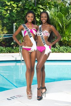 Stunning Ebony Goddesses..>! Miss South Africa and Miss Turks & Caicos..>!