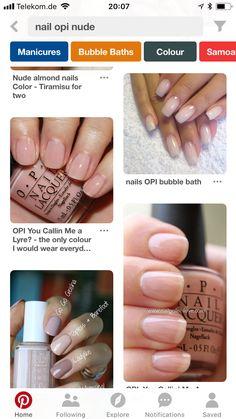 Bubble Bath, Almond Nails, Nail Colors, Manicure, Bubbles, Nail Polish, Make Up, Hair, Style