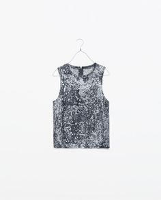 Image 6 of MARBLE PRINT T-SHIRT from Zara