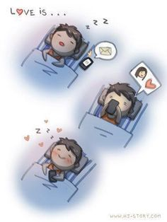 While browsing the net for treasures we found a gold mine of clever and cute drawings made by HJ Story with love drawings and love messages Hj Story, Love Story, Cute Love, Love You, My Love, Give It To Me, Cute Goodnight Texts, Goodnight Texts To Boyfriend, 4 Panel Life