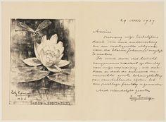 Ter gelegenheid van de 70e verjaardag van Edz. Koning werd de luxe editie uit 1898 van Van Eeden's De kleine Johannes opnieuw uitgebracht. In de collectie van het Teylersmuseum de bedankbrief van de jarige aan de vrienden die de uitgave mogelijk hadden gemaakt.