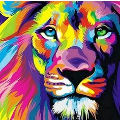 "Beautiful, colorful lion. That's what ""leo's"" are all about!"