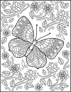 Butterflies Coloring Book for Adults by Amanda Neel ✖️Fosterginger.Pinterest.Com✖️No Pin Limits✖️More Pins Like This One At FOSTERGINGER @ Pinterest