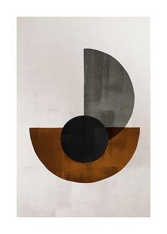 Weimar Circles No2 Poster - Halvcirklar - desenio.se Modern Art Prints, Wall Art Prints, Fine Art Prints, Poster Prints, Canvas Prints, Art Posters, Buy Prints, Gold Poster, Blue Poster