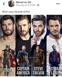 Thor but Chris Pratt is great too So is Chris Pine Marvel Dc, Marvel Actors, Marvel Funny, Marvel Movies, Snowwhite And The Huntsman, Chris Evans Funny, Chris Hemsworth Thor, Chris Pratt, The Avengers
