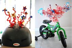 Helmet decorations - Bikes Away! 10 Parade-Ready Ideas for the Fourth of July - ParentMap