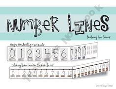 Ten Frame Number Lines (0-20)#Repin By:Pinterest++ for iPad#