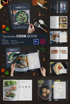 InDesign Cookbook Template Pinterest Indesign Templates - Adobe indesign cookbook template