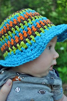 My Merry Messy Life: Free Crochet Pattern for a Sun Hat for Babies