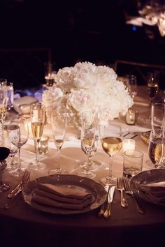 All white #wedding decor ideas. To see more: www.modwedding.com