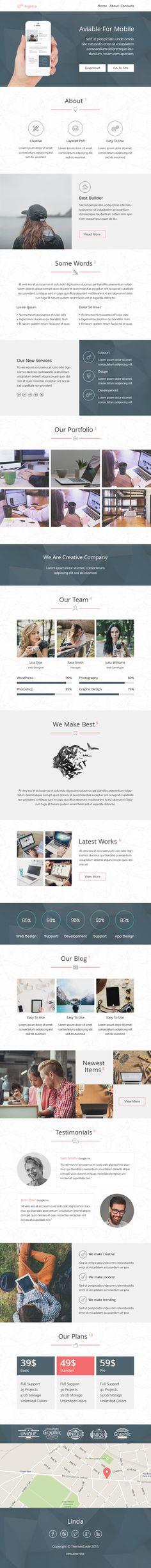 Angelica-responsive email+SR builder by ThemesCode on @creativemarket