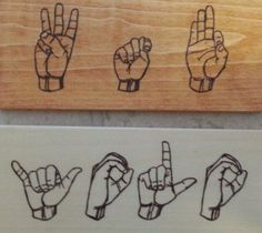 yolo Hand Symbols, Asl Signs, American Sign Language, Yolo, Drawings, Drawing Ideas, Ocean, Etsy, Random