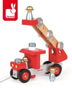 Your little mechanic will delight in building his own fire truck pull toy with our DIY Fire truck Construction Set. Use the included tools to create the 22 piece truck. Bolts, planks, nuts, and blocks Toy Trucks, Fire Trucks, Educational Toys For Kids, Kids Toys, Children's Toys, Truck Pulls, Wooden Truck, Hamster, Baby Kind