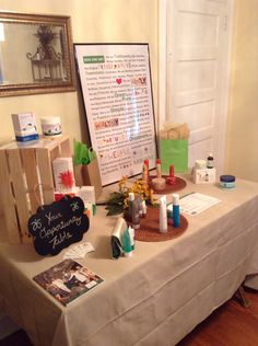 My Presentation Table I created in my home. ❤️ TamikaRogers.arbonne.com. Healthy vegan products!  Botanically based ingredients. Pure! Safe! Beneficial.