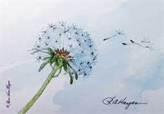 ❋ Aquarelle - Watercolor - Aquarela ❋ // Dandelion In The Wind - Watercolor Painting от RoseAnnHayes Watercolor Cards, Watercolour Painting, Watercolor Flowers, Painting Prints, Painting & Drawing, Tattoo Watercolor, Watercolors, Flower Prints, Flower Art