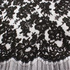 Dentelle de calais noire haute couture