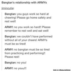 I think that the BTS Fanbase is one of the sweetest and most caring fanbase towards their idols