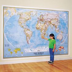 A map so big it needs an entire wall to display it.