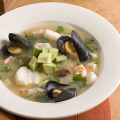 This flavorful seafood soup combines elements of the famous French bouillabaisse with the distinct Thai flavors of lemongrass, lime, ginger and hot chiles.