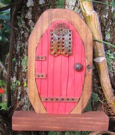 Fairy Door Red Miniature by countrycottagesoap on Etsy, $15.95