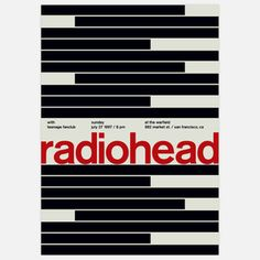 Radiohead, 1997, $35, now featured on Fab.