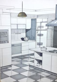 Works – Bursa Art House - All For Decorations Drawing Interior, Interior Design Sketches, Interior Rendering, Interior Architecture, Online Architecture, House Sketch, House Drawing, Interior Design And Technology, Town Country Haus