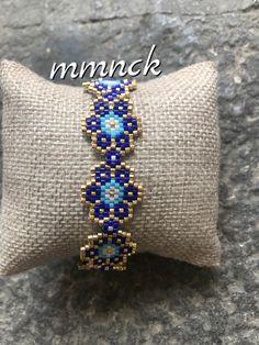 Peyote Patterns, Loom Patterns, Beading Patterns, Beads Jewelry, Jewelery, Handmade Bracelets, Beaded Bracelets, Peyote Beading, Micro Macrame