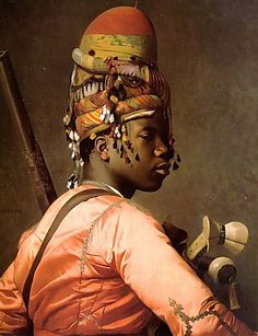 Jean-Léon Gérôme: Black Bashi-Bazouk, ca.1869. I saw this painting at the Met (NYC) last weekend. The color is so luscious in person. I want to paint like this!