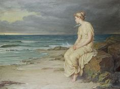 "Ursula contemplating her future in an hour of darkness.  ""Miranda"" (1875) - John William Waterhouse"
