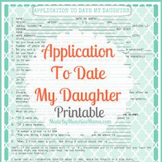 Application to date my daughter!