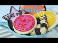Alice in Wonderland 'Eat Me' Cookies | Rosanna Pansino