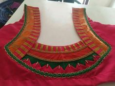 15 Types Of Blouse Back Neck Designs That You Should Try - Kurti Blouse Patch Work Blouse Designs, Simple Blouse Designs, Stylish Blouse Design, Blouse Back Neck Designs, Neckline Designs, Fancy Blouse Designs, Bridal Blouse Designs, Salwar Neck Designs, Designer Blouse Patterns