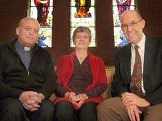 Roland Syens, pastor at Holy Cross Lutheran Church (left to right),  Elsie Millerd, parish nurse at St. John the Evangelist and John Lougheed, in charge in spiritual care at Grand River Hospital, are part of an April 19 panel talking about how faith communities can become centres for health.