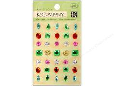 K&Co Adhesive Embellishments Gems Vibrant Product Detail