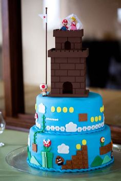 Super Mario Groom's Cake (actually from my wedding!)