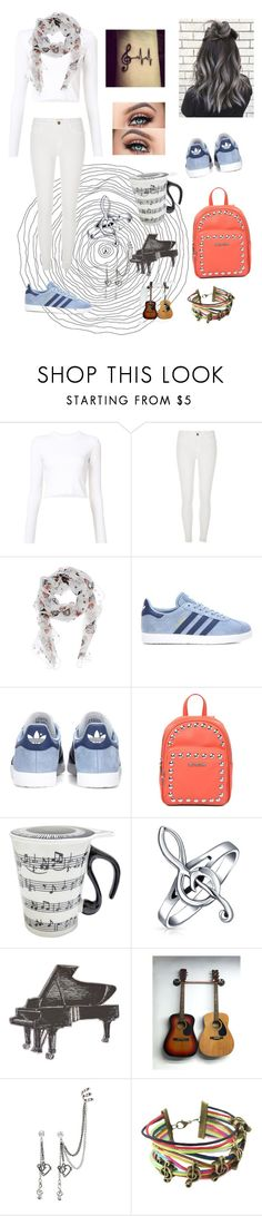 """""""Music is life style"""" by roli17 ❤ liked on Polyvore featuring Proenza Schouler, River Island, Alexander McQueen, adidas Originals, Love Moschino, Music Notes, Bling Jewelry and music"""