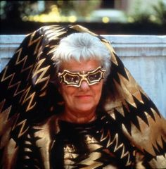 Peggy Guggenheim with the glasses designed for her by Edward Melcarth 1966