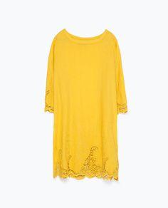 ZARA - TRF - EMBROIDERED DRESS