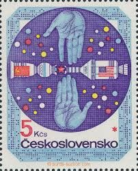 Hands to friendship and cooperation, CCCP and USA, satelites Postage Stamps, Research, Objects, Kids Rugs, Illustration, European Countries, Fiji, Usa, Czech Republic