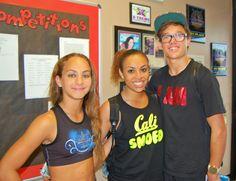 Gabi Butler and Kiara Nowlin at my daughter's gym!!
