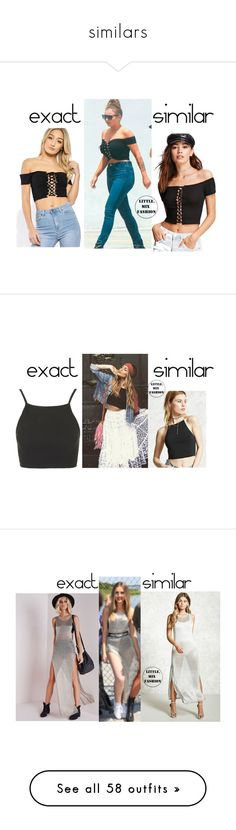 """""""similars"""" by little-mix-are-babes ❤ liked on Polyvore featuring Forever 21, Topshop, Missguided, Love 21, ASOS, Finders Keepers, plus size dresses, Lovers + Friends, plus size clothing and USA Pro"""