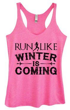 Womens Fashion Triblend Tank Top - Run Like Winter Is Coming - Tri-BB20