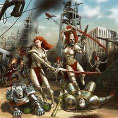 Warhammer 40k -  Banshees and Inquisitor by tutzdes.deviantart.com on @deviantART