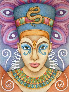 Black Women Art!, fuckyeablackart: Nefertiti by ~Garelito