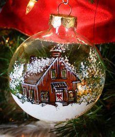 Handpainted Christmas Ornaments, Christmas Ornaments To Make, Hand Painted Ornaments, Noel Christmas, Christmas Projects, Holiday Crafts, Christmas Bulbs, Christmas Decorations, Ball Ornaments