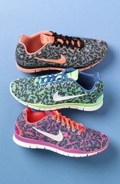 We adore these snazzy animal print sneakers